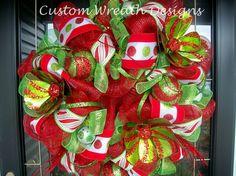 Christmas Polka Dot Whimsical Wreath