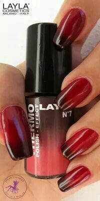 THERMO EFFECT . 07 BORDEAUX TO RED. www.laylacosmetics.ro