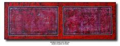 DOUBLE HUNG, 62 X 180 cm., acrylic on panel