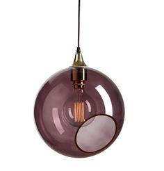 Design By Us - Ballroom XL pendel i lilla/messing (Ø 33 cm)