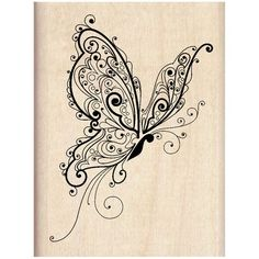 Inkadinkado Wood Stamp, Butterfly