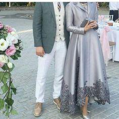 Islamic Fashion, Muslim Fashion, Modest Fashion, Fashion Dresses, Hijab Evening Dress, Hijab Dress Party, Evening Dresses, Mode Abaya, Modele Hijab