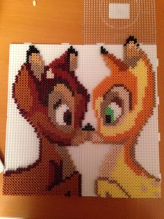 Bambi made with hama and photo pearls
