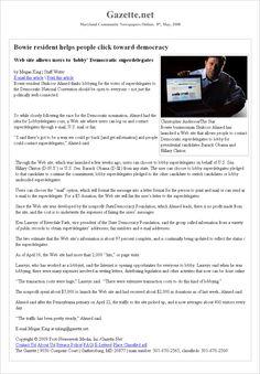 Bowie resident helps people click toward democracy. (Gazette.net)