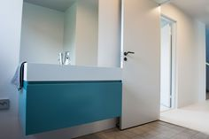 Turquoise Gesto bathroom furniture from Antoniolupi Architect House, House Built, Bathroom Furniture, Cladding, Bathtub, Building, Projects, Turquoise, Home