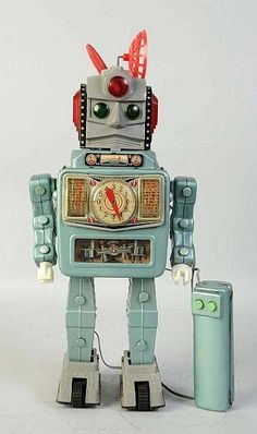 Especially with the presence of the latest and most sophisticated robot Vintage Robots, Vintage Toys, Vintage Space, Metal Toys, Tin Toys, Cool Robots, Cool Toys, Japanese Robot, Retro Rocket