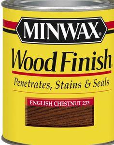 Minwax 22330 1/2 Pint Wood Finish Interior Wood Stain, English Chestnut