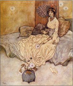 Edmund Dulac, 1916, Stories from the Arabian Nights - The Princess Deryabar