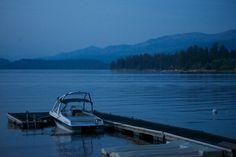 Lake with blue mountains. | prolabdigital.com