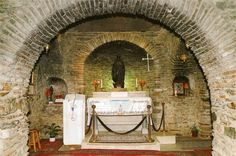 The Tomb of Virgin Mary's final resting place at the last house, that the Virgin Mary lived in after the Crucifixion - Kusadasi, Ephesus, Izmir, Turkey.
