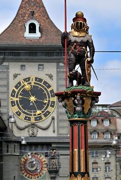 A very famous clock in Berne, Switzerland. Zurich, La Provence France, Places Around The World, Around The Worlds, Switzerland Bern, Swiss Travel, Zermatt, European Destination, Swiss Alps