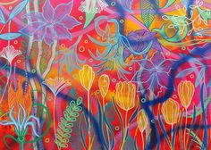 Magpie, Contemporary, Flowers, Painting, Art, Art Background, Painting Art, Kunst, Paintings