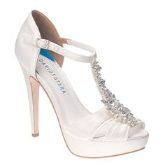 David Tutera Jewel White Ivory Wedding Shoes