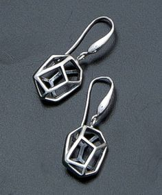 Zina - Prism 3D Sterling Silver Dangle Earrings #39605 $100.00 at Castle Gap Jewelry #silver #jewelry