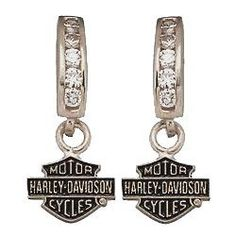 Harley-Davidson\u00ae Earrings, 5-2PT Diamond