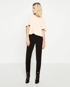 Image 1 of CROPPED TOP WITH PLEAT DETAIL from Zara