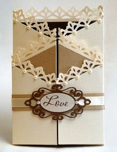A Star For Chiemi: Another Double Zig Zag Wedding Card