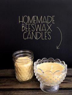 #Homemade #BeeswaxCandles | MrsAmberApple
