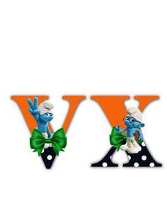 S.T.R.U.M.F.: Litere cu strumfi 2 Math For Kids, Alphabet Letters, Smurfs, Numbers, Cartoon, Logos, Manualidades, Letters Of Alphabet, Logo