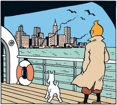 The History of Tintin in America Album Tintin, Captain Haddock, Herge Tintin, Ligne Claire, Wire Fox Terrier, I Love Ny, Comic Artist, Comic Character, Illustrators