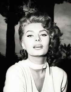 Those features... stunning and timeless..... Sofia Loren. c. 1950s