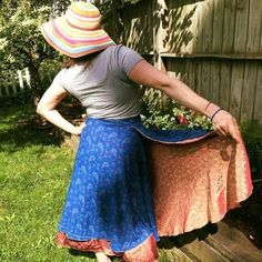 Sari Silk Wrap Skirt