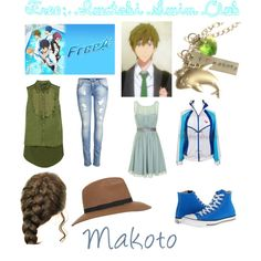 Makoto- Free: Iwatobi Swim Club by jeanwgirl on Polyvore