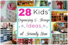Serenity Now: 28 Kids' Toy Organization and Storage Ideas Toddler Closet Organization, Toy Organization, Toy Storage, Storage Ideas, Smart Storage, Serenity Now, Kids Toys, Toddler Toys, Getting Organized