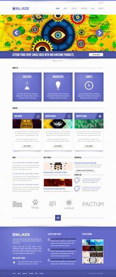 Blaze Corporate PSD Template  #design #webdesign #template #web #graphic #psd #photoshop #corporate #creative #stylish