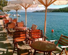 Sitting outside a cafe. in the afternoon by the water Chios island east Aegean Greece Amazing Places On Earth, Beautiful Places, Macedonia, Albania, Bulgaria, Travel Around The World, Around The Worlds, Skiathos Island, Chios Greece