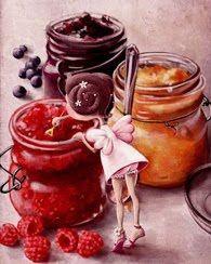 """""""Jam fairy"""" by Elina Ellis Children's Book Illustration, Food Illustrations, Illustration Children, Whimsical Art, Cute Drawings, Beautiful Drawings, Cute Art, Food Art, Fantasy Art"""
