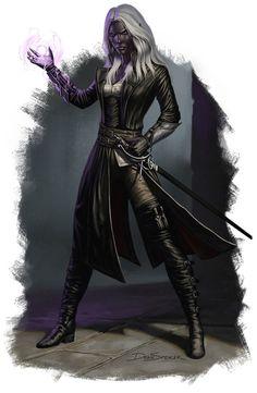 Minaethiel Drow Warlock by DeanSpencerArt