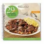 #2473   The Pampered Chef® 29 Minutes to Dinner, Volume 3 — $15.50    Each of these 56 quick, easy and smart main-dish solutions is designed to be on the table in 29 minutes or less. Includes timesaving tips, tools and techniques to help you get in and out of the kitchen quickly. Chapters feature poultry, fish and seafood, beef and pork, and meatless. Nutritional information included. Spiral bound.  http://www.pamperedchef.biz/labritta