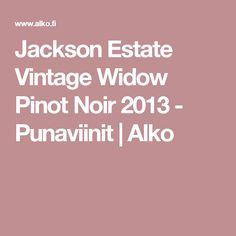 Jackson Estate Vintage Widow Pinot Noir 2013 - Punaviinit | Alko