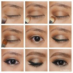 L'oreal Sahara Treasure – Kirei Makeup. Halo smokey golden eyes, work for a glam… L'oreal Sahara Treasure – Kirei Makeup. Halo smokey golden eyes, work for a glam wedding makeup Dewy Makeup Tutorial, Party Makeup Tutorial, Makeup Tutorial For Beginners, Eyebrow Tutorial, Basic Makeup, Simple Makeup, Natural Makeup, Asian Makeup Before And After, Asian Makeup Tutorials