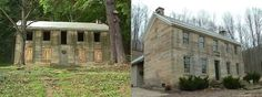 Kennedy Stone House before and after restoration