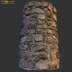 Stone wall 13. A seamless stone wall texture from Game-Textures.com