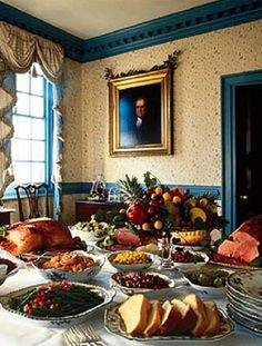 Christmas Buffet 2020 Virginia 18th century Colonial American holiday feast in 2020 | Colonial