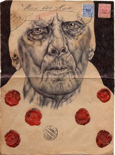 Incredible Envelope Portraits by Mark Powell