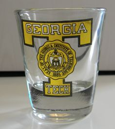 I scored a GT mug with this exact logo on it at a thrift store outside of Akron, OH, but it unfortunately broke when I was moving out of my last apartment (something else to blame on my psycho ex-roommate, haha). Must pick up another one while I'm in ATL! Psycho Ex, Blame On Me, Georgia Institute Of Technology, Good Fellows, I Am Moving, Fan 2, Holiday Wishes, Roommate, Shot Glasses