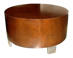 Check out the deal on SALE!!!!  Le Montrose Round Wood Coffee Table with Stainless Feet at Hotel Surplus