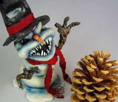 Evil Snowman9 by FeltedChicken, via Flickr