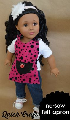 Quick Craft – No Sew Felt Apron for Dolls