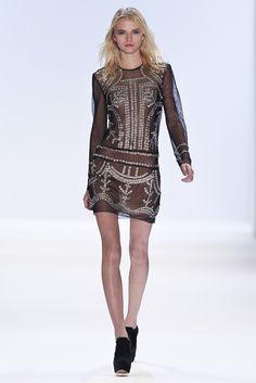 embroidered tulle dress - jill stuart rtw fall 2012.