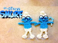 Rainbow Loom Brainy Smurf Tutorial - How To loom with loom bands