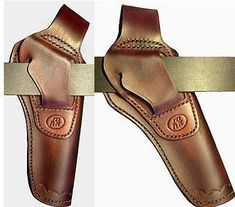 Pistol Revolver leather holster läder hölster