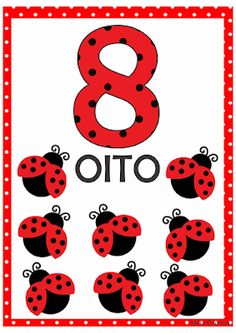 NUMERAIS DE 0 A 10 TEMA JOANINHA Number Flashcards, Flashcards For Kids, Kids Math Worksheets, 1st Grade Worksheets, Numbers Preschool, Preschool Math, Miraculous Ladybug Party, Math Board Games, Lego Activities