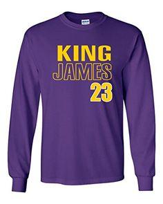 fb7937ec6e59 Long Sleeve Purple Los Angeles Lebron King 23