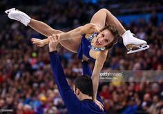 Meagan Duhamel and Eric Radford of Canada compete during Day 6 of the ISU World Figure Skating Championships 2016 at TD Garden on April 2, 2016 in Boston, Massachusetts.