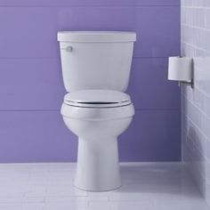 kohler cimarron comfort height two piece elongated toilet with aquapiston flushing technology in white provides an enhanced flushing performance